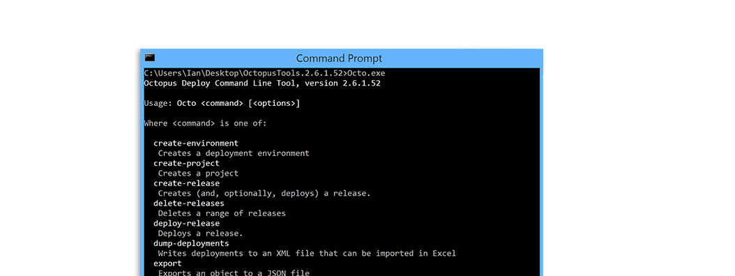 Use our custom made command line tool to run a range of tasks
